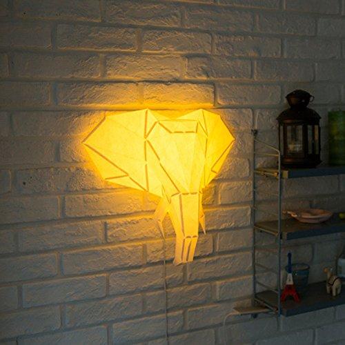 HR Lighting DIY Paper Origami Pendant Wall Mood Light (Elephant)