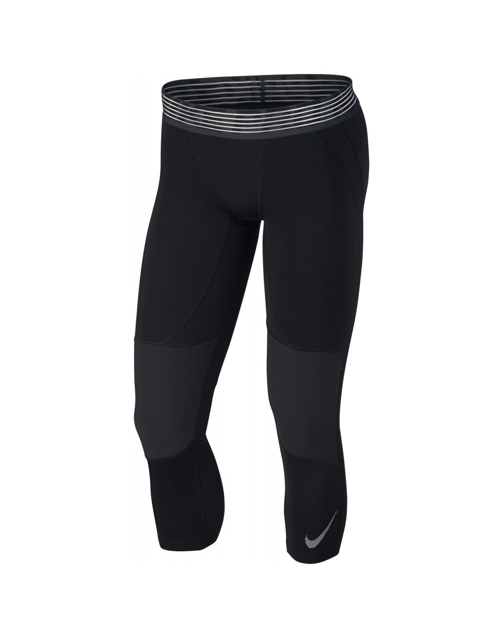 Nike Men's Pro 3/4 Tights (Midnigt/Black/Electric Silver, Large) by Nike