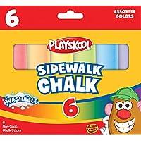 Playskool, Washable Sidewalk Chalk, Assorted Colors - 6 Sticks