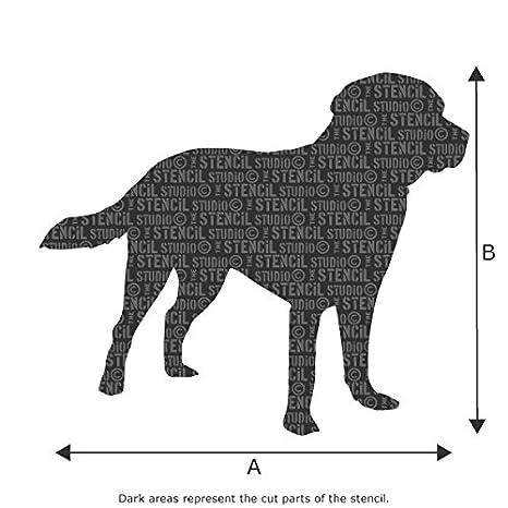 Stencil Schablone Labrador auf A4