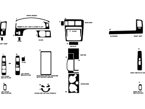 Rdash Dash Kit Decal Trim for Toyota Tacoma 2001-2004 - Carbon Fiber 4D (Silver)