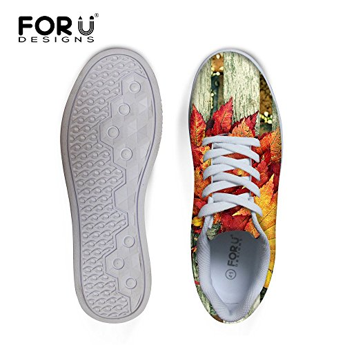 Shoes Graffiti Comfortable Skateboard Sneaker Casual Top up FOR Leaves 6 Lace MaLow Men's U DESIGNS I0nqHxz1Tw