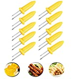 Fashionclubs Corn on the Cob Holders Set for Skewers BBQ Twin Prong Sweetcorn