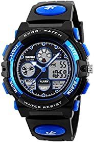 Multi Function Digital LED Wristwatch Water Resistant Electronic Sport Watches for Kids