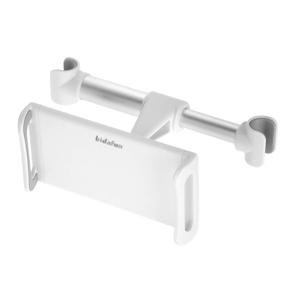 para Todos los tel/éfonos m/óviles y tabletas de 4 a 8,2 Pulgadas Compatible con Tablet bidafun Soporte para reposacabezas de Coche Color Blanco Soporte para Asiento de Coche