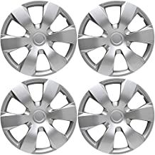OxGord Hubcaps for Toyota Camry (Pack of 4) Wheel Covers - 16 Inch, 6 Spoke, Snap On, Silver