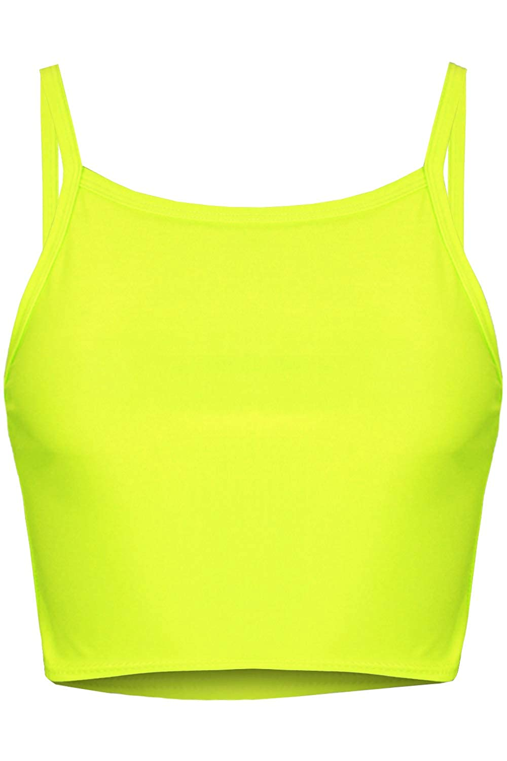 Fashion Star Womens Plain Sleeveless Stretchy Strappy Cami Camisole Bandeau Boobtube Bralet Crop Cropped Top BE JEALOUS