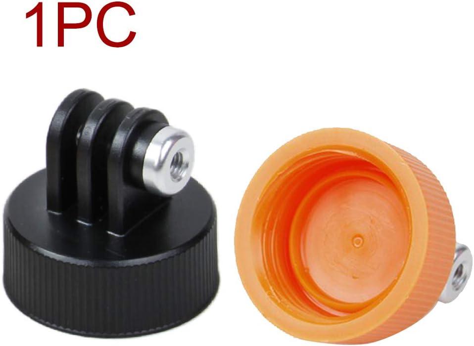 ZDYS Soporte Adaptador Montaje en Botella C/ámara Monopie Herramientas Conector Agua DIY Tapa fijaci/ón Flexible Tr/ípode Buceo Surf Pr/áctico Universal para GoPro Negro