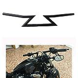 JFG RACING 1' 25MM Handlebars Z Handle Bars For Harley Custom Chopper Cruisers Bobber Sportster Dyna Softail Triumph