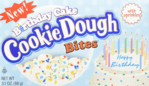 Cookie Dough Bites, Birthday Cake, 3.1 Ounce (Pack of 12) -