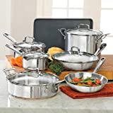 Emeril by All-Clad E937SSC Copper Stainless Steel Oven Safe Dishwasher Safe 12-Piece Cookware Set