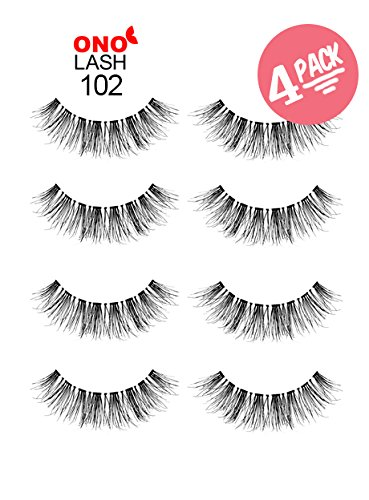 ono-lash-102-natural-discounted-price-4-pairs-combo-bundle-pack-wispies-invisible-clear-strip-bandfa