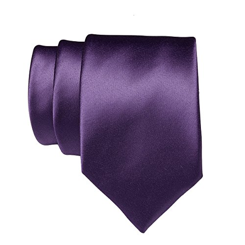 Neckties Classic Formal Color 22 Pure 2 Colors for violet in Satin Ties Plain Neck Party Work Solid Wedding Men Polyester 6zaqv