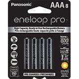Panasonic BK-4HCCA8BA Eneloop Pro AAA NEW High Capacity 950mAh typical, 900mAh Minimum, Ni-MH Pre-Charged Rechargeable Batteries, 8 Pack