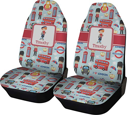 YouCustomizeIt London Car Seat Covers (Set of Two) (Personalized) ()