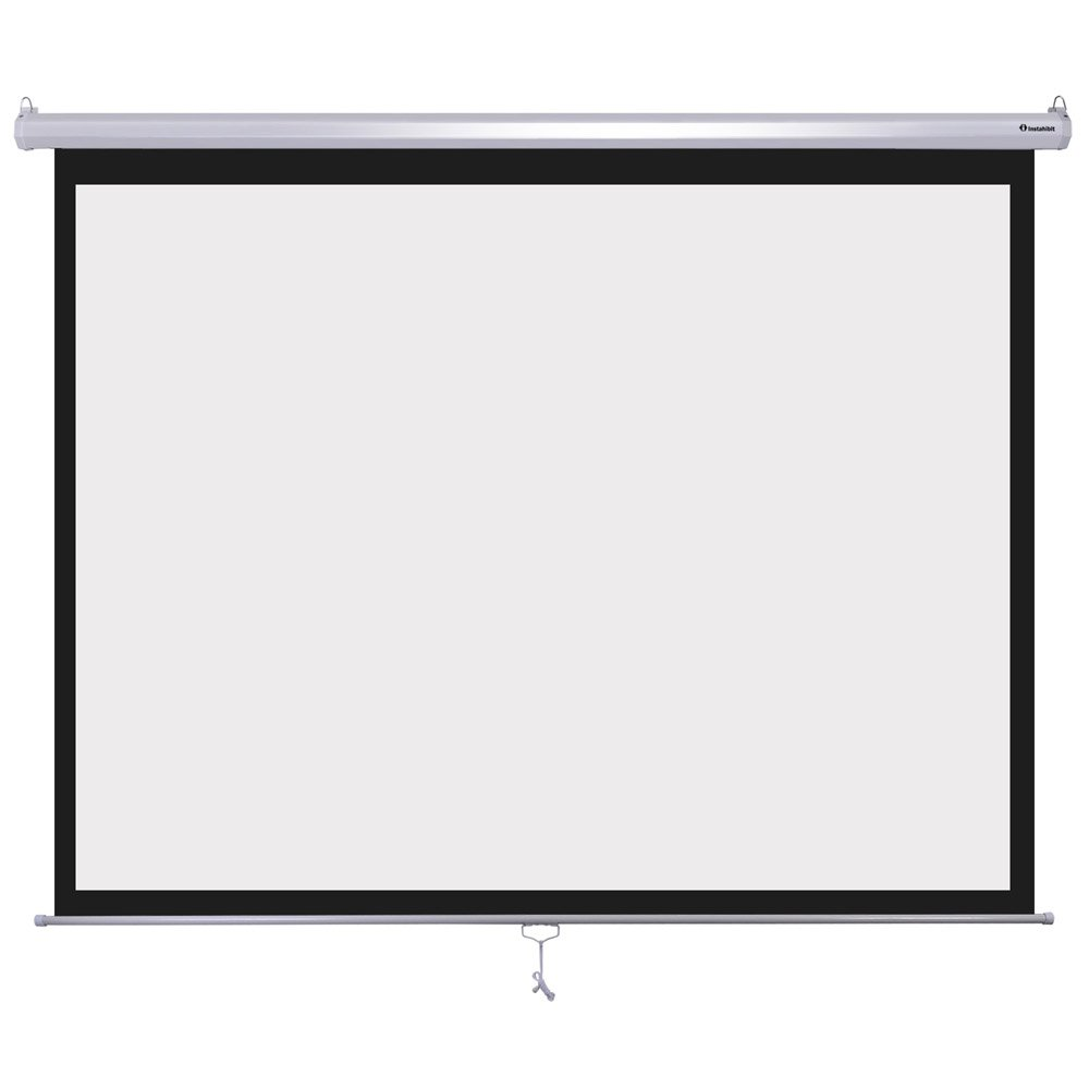 Instahibit 120'' Diagonal 4:3 Manual Pull Down Projector Screen Classroom Meeting Room Home Bar Projection