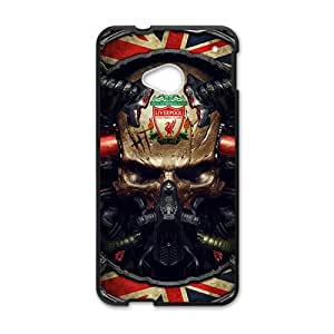 Skull Black htc m7 case