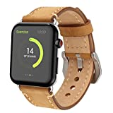 Electronics : for Apple Watch Band 42mm Genuine Leather iWatch Bands Light Brown