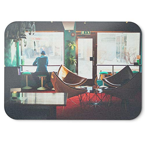 Westlake Art - Room Cafe - Mouse Pad - Non-Slip Rubber Picture Photography Home Office Computer Laptop PC Mac - 8x9 inch ()