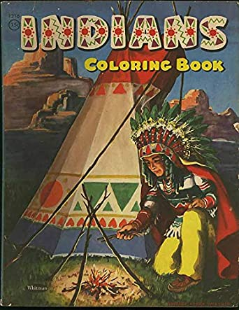 Indians Coloring Book - 1956 Whitman at Amazon\'s ...