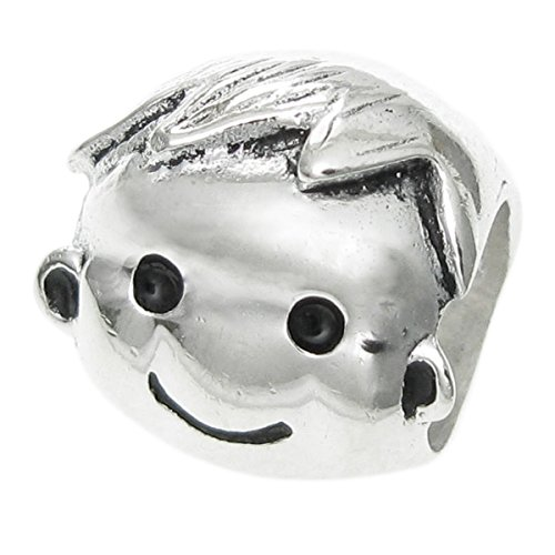 Dreambell .925 Sterling Silver Baby Boy Smile Face Family Bead For European Charm Bracelets