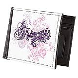 Truly Teague Men's Wallet Billfold Purple Princess Floral