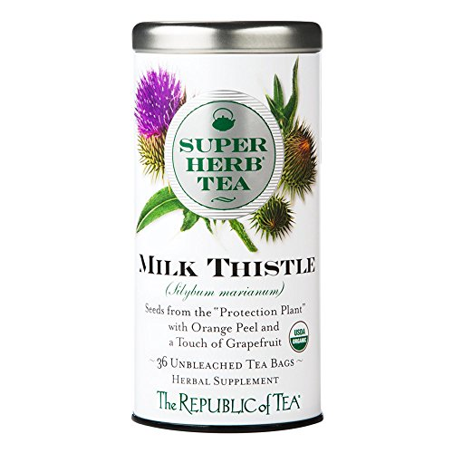 The Republic Of Tea, Milk Thistle Superherb, 36 Count