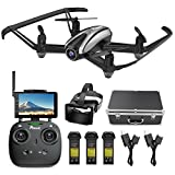 Drone with Camera, Potensic RC Quadcopter Racing Drone with 720P HD Camera RTF 4 Channel 2.4GHz 6-Gyro(360 Degree Flip) Headless Mode & Altitude Hold Function & Carrying Case & VR Glasses