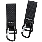 Stroller Hooks, 2 Pack of Multi Purpose Mommy Hook Stroller Straps for Baby Diaper Bags, Groceries, Clothing, Purse, Ideal Stroller Accessories