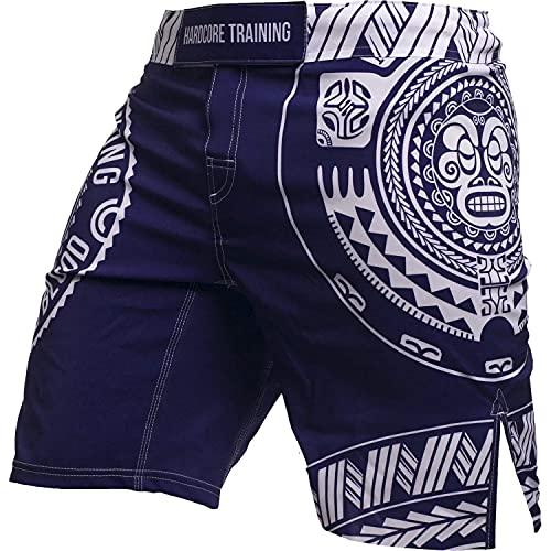Hardcore Training Ta Moko Fight Shorts Men's Boxing MMA Combat BJJ Grappling Fitness Muay Thai Kickboxing No Gi