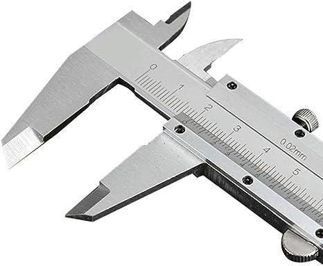 WANGZRY Pinza 0-200mm/0,02mm de Acero al Carbono Vernier Pinzas Fuera Dentro de Profundidad Escalera Pinzas Instrumentos de Medida micrómetro: Amazon.es: Deportes y aire libre