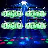 (4) American DJ ADJ Jellyfish IR RGBW DMX Dance Floor Moonflower Effect Lights