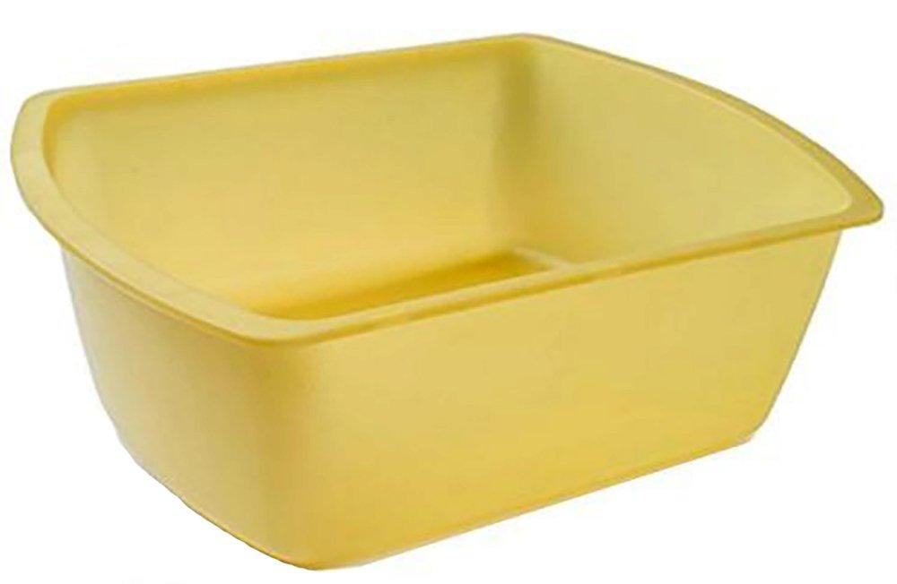 8 Quart Patient Wash Basin - Rectangular 10'' x 13'' (Gold) (Single) (3) by PrimeMed
