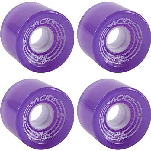 【楽天カード分割】 Acid Chemical B07J39W3NT Wheels ゼリーショット - パープル スケートボードホイール 59mm - 59mm 80a (4個セット) B07J39W3NT, 京都かしいしょう:330517fa --- mvd.ee