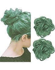 Vrouwen Haarbroodje Haarstukje Extensions Pruiken Synthetisch Krullend Rommelig Broodje Haarstuk Mode Chouchou Pruiken Haarverlenging pak van 2