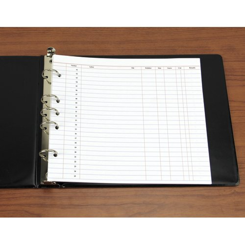 Accession Records - Loose Leaf Sheets - 9 1/2''H x 11 3/4''W - 20 Sheet Pack