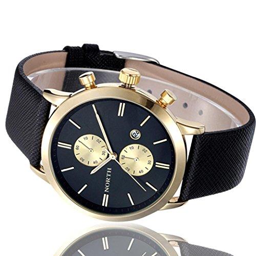 Big promotion ! Teresamoon watch Fashion Men Casual (Black Gold)