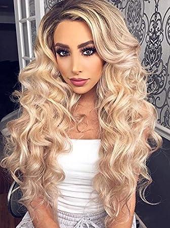 Amazon Com Laavoo 14inch Balayage Front Lace Wig Human Hair