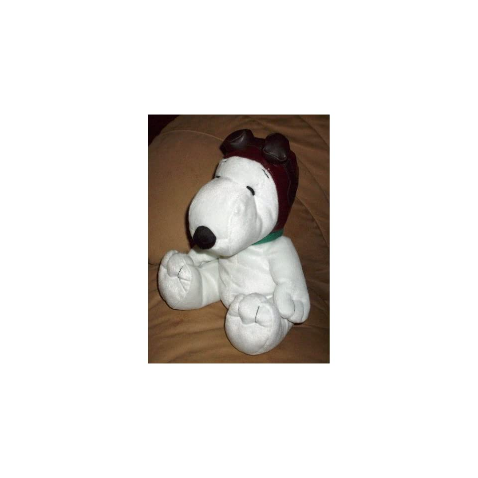 Rare Metlife Peanuts Flying Ace Pilot Snoopy Plush