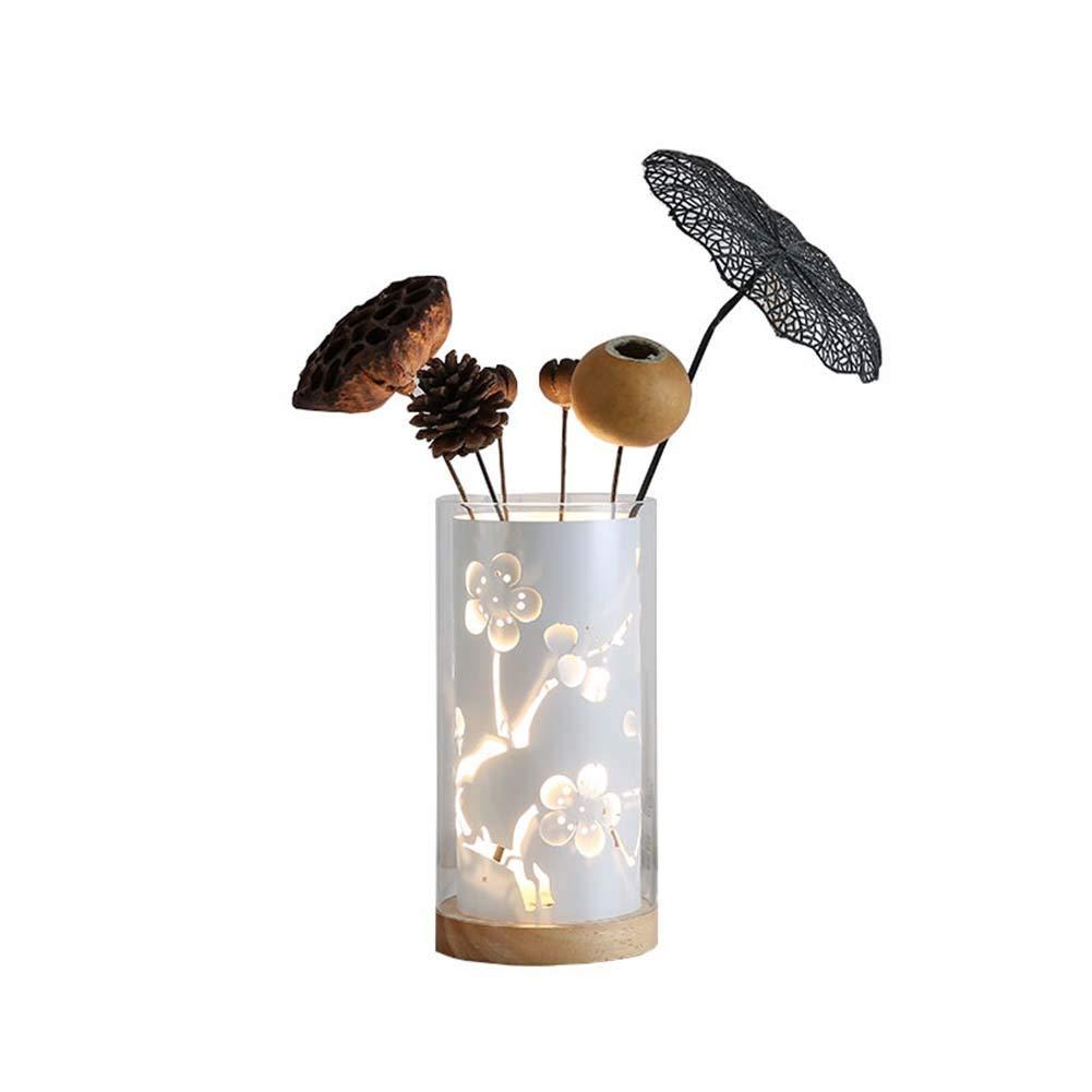 Einfache durchbrochene dekorative Blaumen-Anordnung romantische romantische Schlafzimmer-Nachttisch-LED-Tischlampe