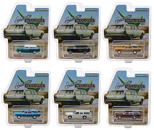 - Estate Wagons Series 3, Set of 6 Cars 1/64 Diecast Models by Greenlight 29950