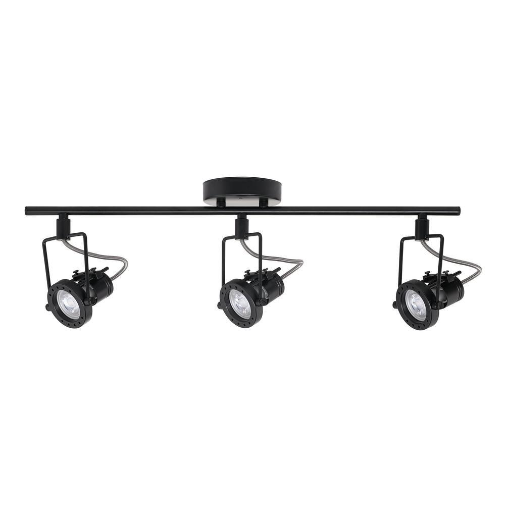 Hampton Bay 1.975 ft. 3-Light Black LED Track Lighting Kit