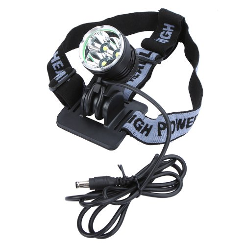 Kingzer 3x CREE T6 3600Lm LED Bicycle Bike Light Headlamp Headlight 3 Modes Waterproof