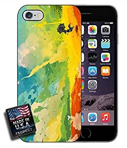 Rocket Ship Landscape Painting iPhone 6 Hard Case
