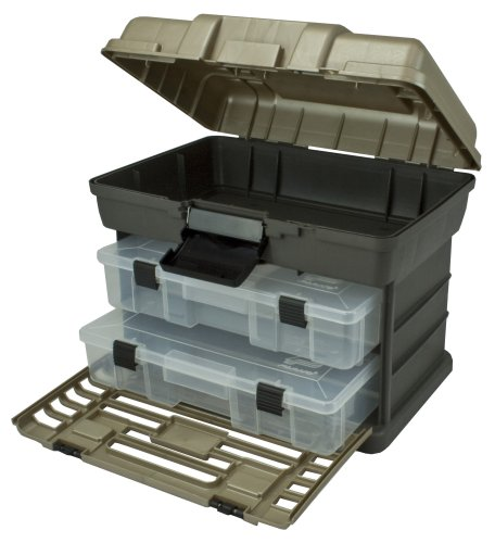 Plano Molding 1372-30 Stow N Go Tool Box with 2-Utility Organizers Graphite Gray and SandStone