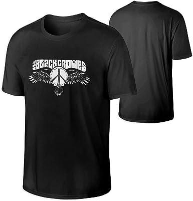 Camisa Deportiva de Manga Corta para Hombre, The Black Crowes Mens Crewneck T-Shirt: Amazon.es: Ropa y accesorios