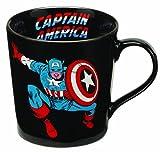 captain america glass cup - Vandor 26566 Marvel Captain America 12 oz Ceramic Mug, Black, Red, Blue, and White