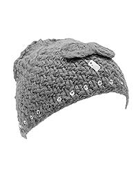 Childrens/Kids Girls Winter Beanie Hat with Sequins