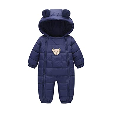 3acefd030 Amazon.com  Fairy Baby Infant Boy Girl Winter Thick Romper Outwear ...