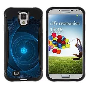 "Pulsar iFace Series Tpu silicona Carcasa Funda Case para Samsung Galaxy S4 IV I9500 , Sun Pulsar Web Negro Patrón"""